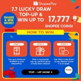 ShopeePay x Top-Up and Win Up to 77,777 Coins