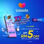 Lazada 7.7 : TNG RM5 Voucher