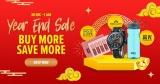 Lazada Year End Sale: 30 Dec – 1 Jan (Buy More Save More)