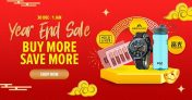 Lazada Year End Sale: 30 Dec – 1 Jan (Buy More Save More)