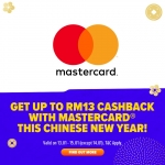 Lazada Promotion: RM13 cashback from Mastercard