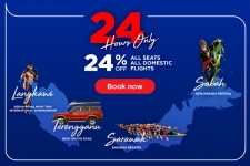 MAS Airlines: 24 hours Flash Sales. Only to domestic destinations.