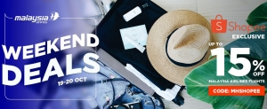 Malaysia Airlines: Shopee Weekend DealsSpecial.