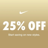 Nike: 25% OFF SITE WIDE