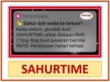 foodpanda Voucher Code: SAHURTIME