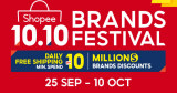 Shopee 10.10 Brands Festival 2021