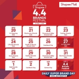 Shopee Vouchers: 4.4 Shopee Brands Festival Sale (20th March – 4th April 2020)