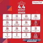 Shopee Vouchers: 4.4 Shopee Brands Festival Sale (20th March – 4th April 2020)
