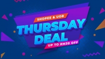 Shopee x UOB Promotion: Get RM30 OFF every Thursday
