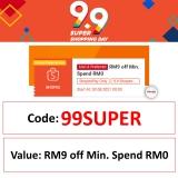 Shopee 9.9 – Claim Special  RM9