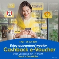 Touch 'n Go eWallet Weekly Cashback (Extended)