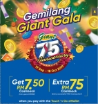 Touch 'n Go eWallet Promo: Gemilang Giant Gala