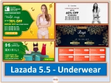 Lazada 5.5 Raya Sale: Midnight 12am-2am Sale For Underwear