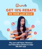 Shopee x Unifi Bills: Enjoy 10% Rebate Offer for May 2021