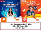 Shopee x Unifi and Bills Discount Offers for July 2021