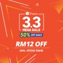 Shopee (MY) 3.3 Mega Sale Special Vouchers. Come get them!