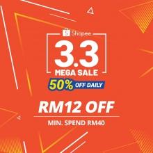 Shopee (MY) 3.3 Mega Sale Special Vouchers. Come get them!