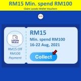 Lazada Shop Malaysia Online RM15 Off Voucher
